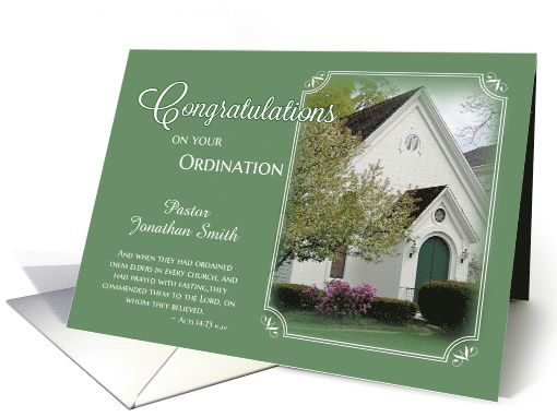 Pastor ordination congratulations card greeting cards