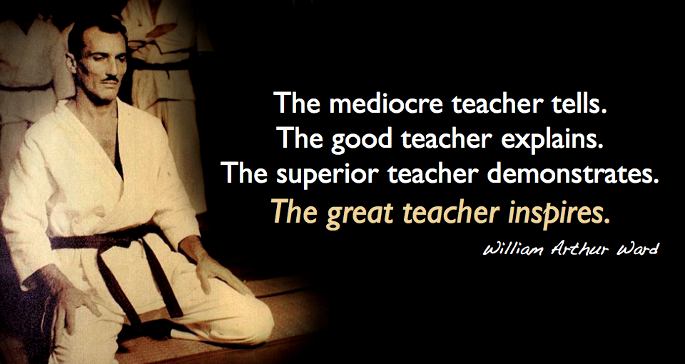 Great martial arts teachers inspire their students
