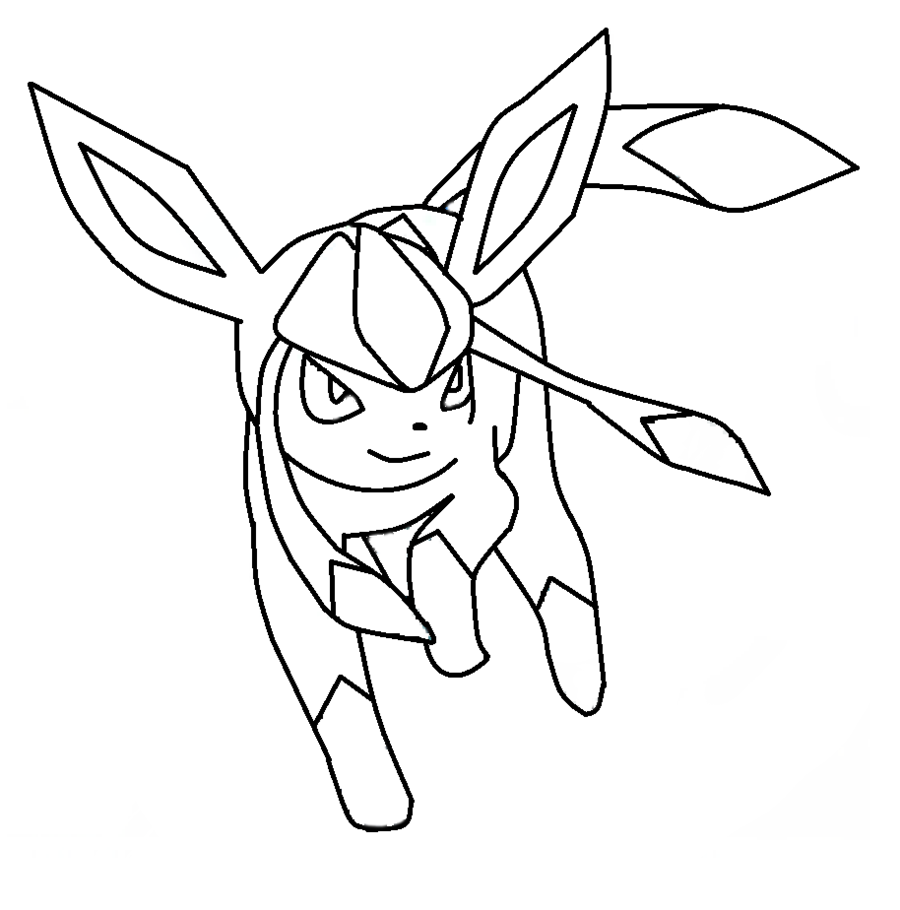 Glaceon Template By Shadowxmephiles On DeviantArt Pokemon Coloring PagesPokemon