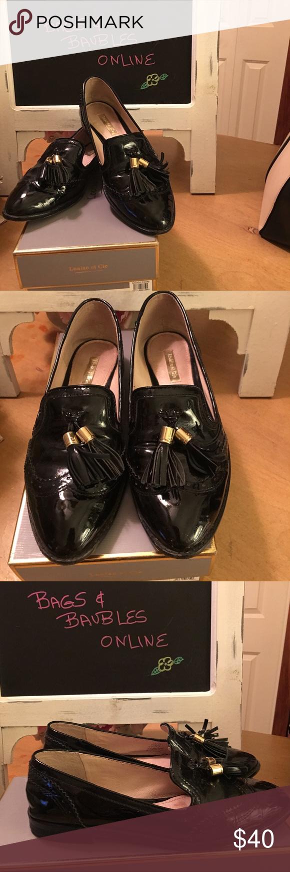 ab6137db770 Louise et Cie Lo-Joey Black Patent Tassel Loafers Gorgeous Louise et Cie Lo-