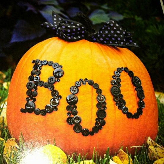 If only I had multiple pumpkins from my garden this year!! Super cute idea...