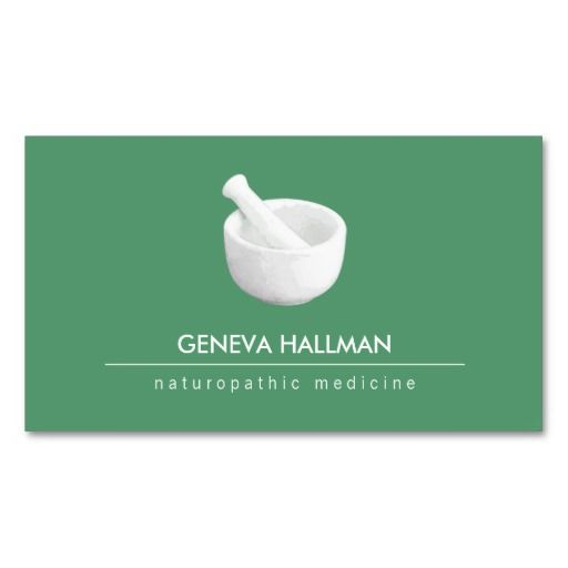 Mortar and Pestle Logo Naturopathic Doctor 2 Pack Of Standard - business card template for doctors