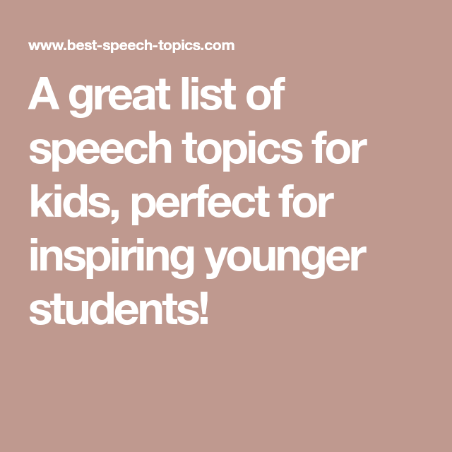 list of speeches for students