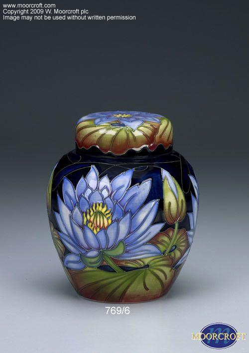 Moorcroft Pottery   moorcroft pottery design blue lotus designer ...