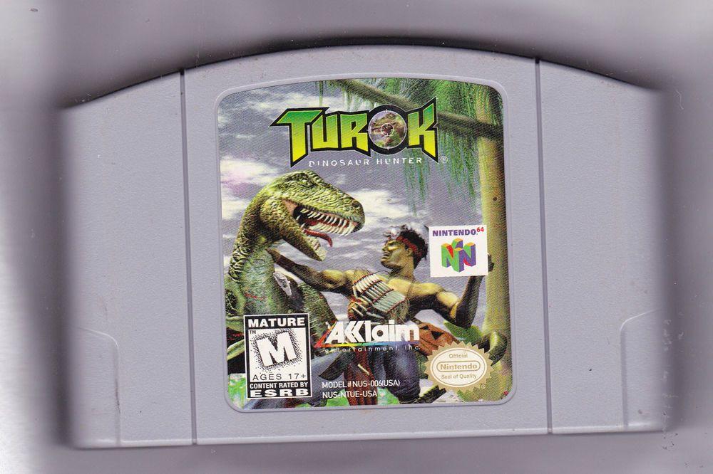 TUROK DINOSAUR HUNTER Video Game NINTENDO 64 N64 System