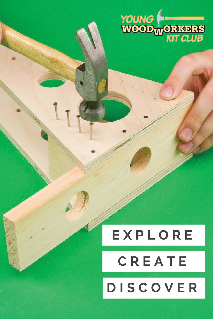 Pin By Young Woodworkers Kit Club On Woodworking Kits For Kids