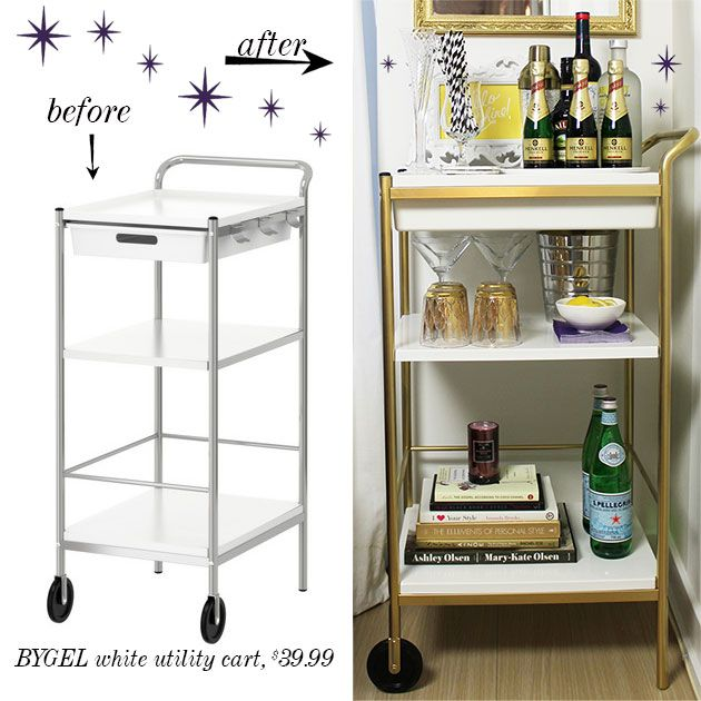 ikea bar cart hack diy and craft ideas pinterest bar. Black Bedroom Furniture Sets. Home Design Ideas