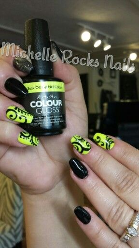 @artisticnail coffin abstract art nails