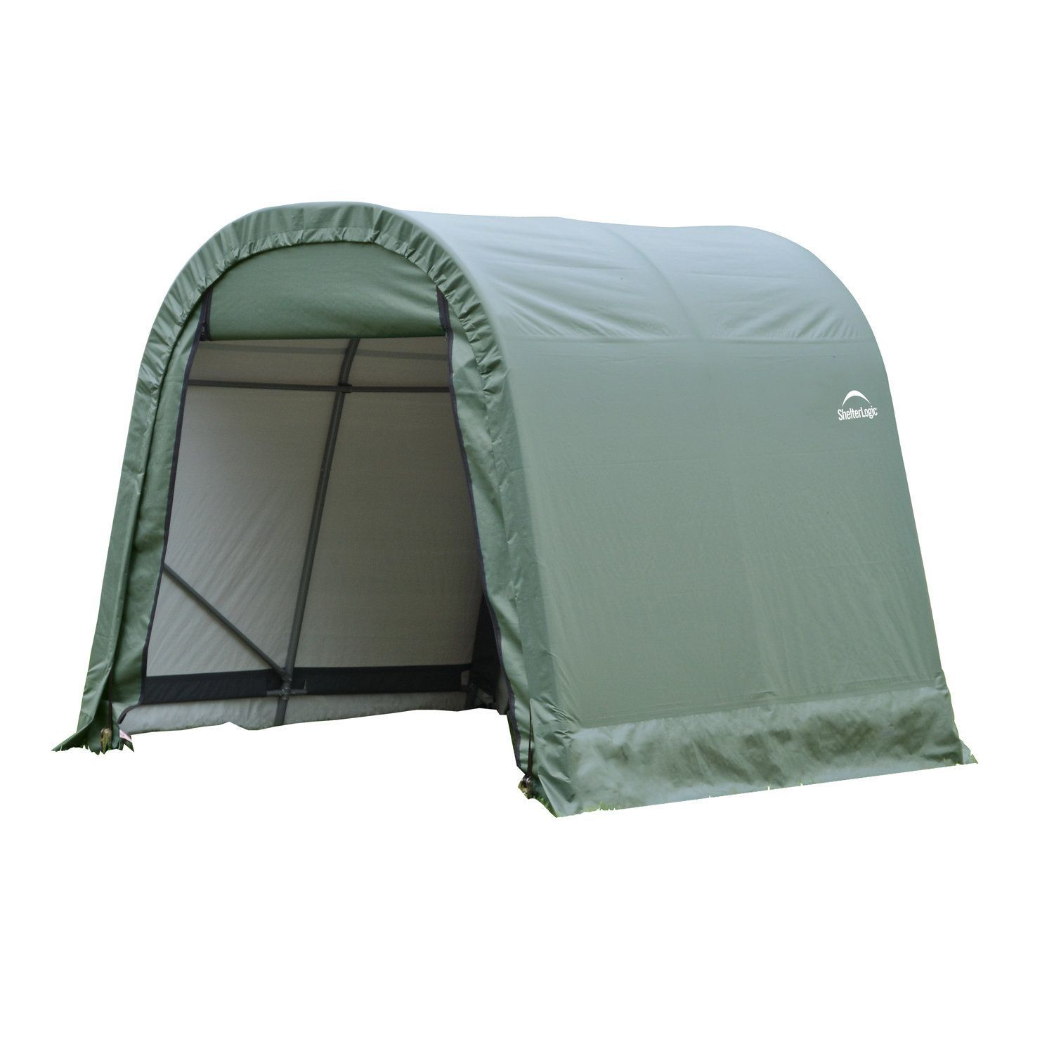 Shelterlogic Outdoor Round Garage Boat/ Car Green 8 x 8 x 12-foot Storage Shed (Shelterlogic Outdoor Round Green Shed 8'x12'x8') #76814