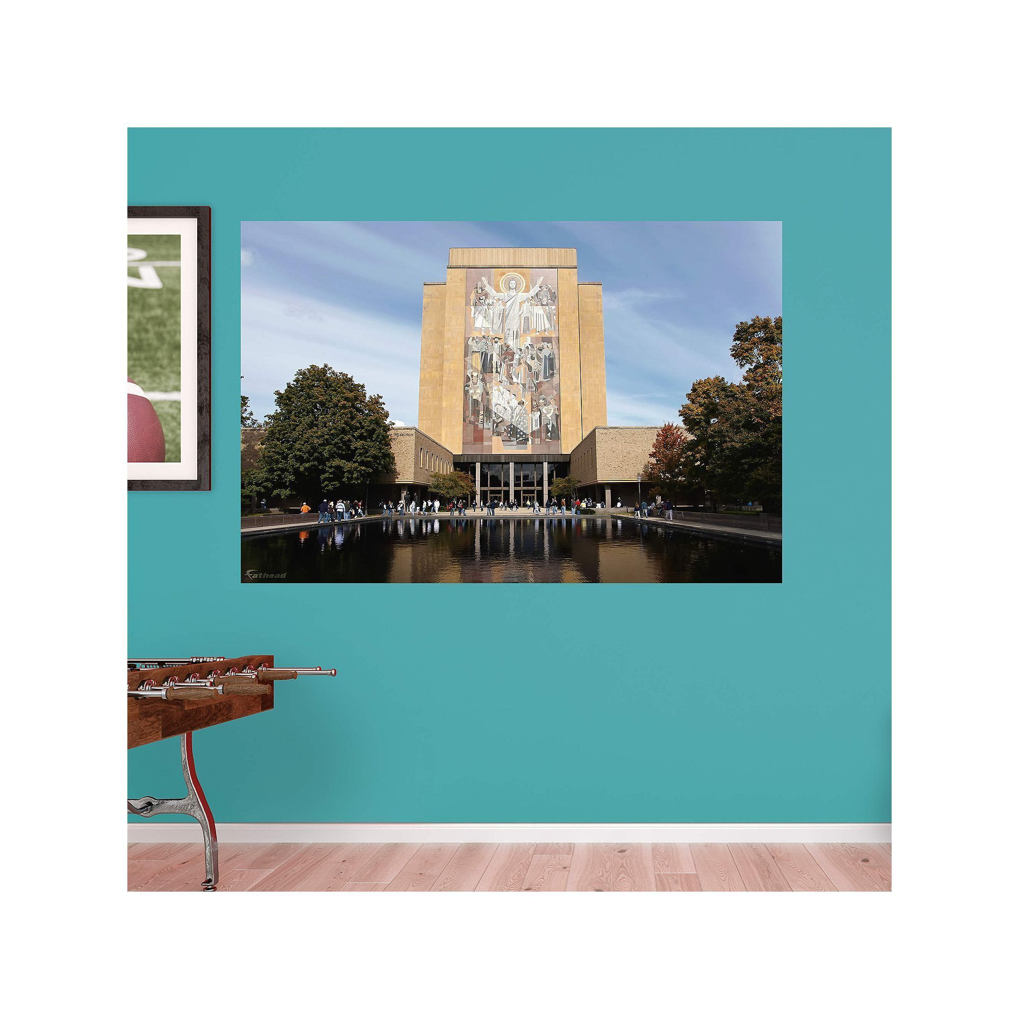 Notre Dame Fighting Irish Hesburgh Library Mural Wall Decal By Fathead,  Multicolor
