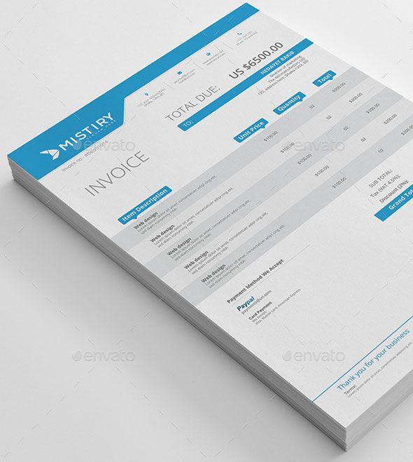 37 Best Psd Invoice Templates For Freelancer Bashooka Invoice Template Invoice Design Web Graphic Design