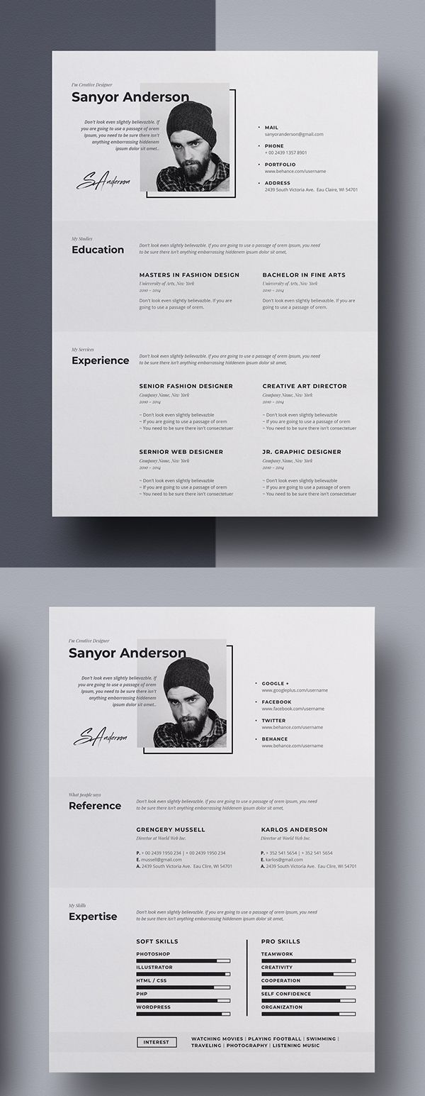 Templates Free Resume 2018 Google Docs Creative Modern Template Download Attractive