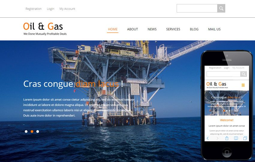 Oil and Gas a #Industrial #Category #Flat #Bootstrap #Responsive ...