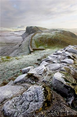 Frosty Hadrians Wall, Northumberland