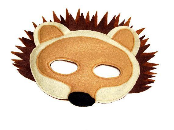 6 Foam Cute Hedgehog Masks Animal Fancy Dress For Children /& Grown Ups