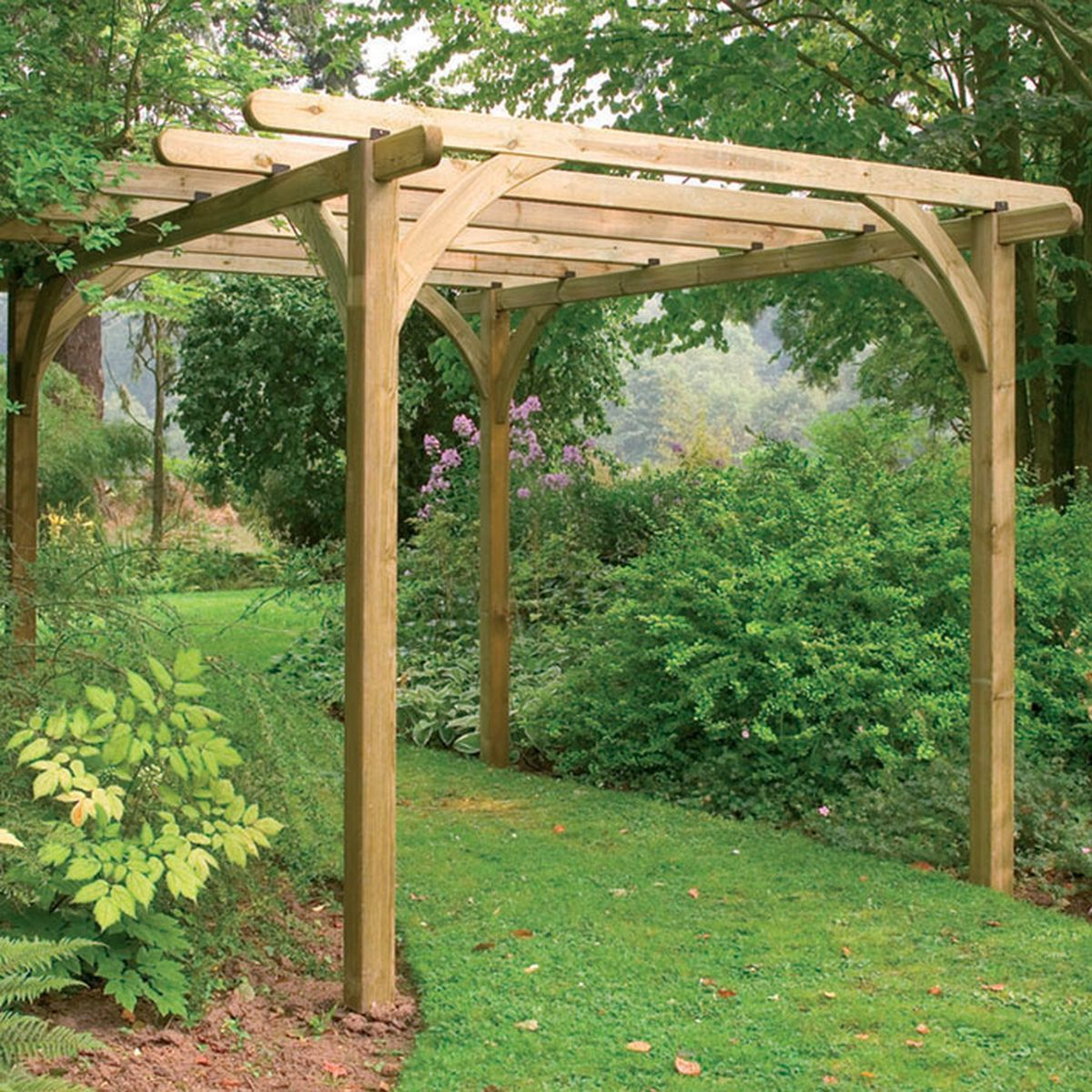 Forest Ultima Wooden Pergola Kit x - Forest Garden Ultima Pergola Kit 3.6 X 3.6m. Simple. Garden Living