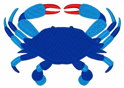 Blue Crab Embroidery Design | make | Embroidery designs