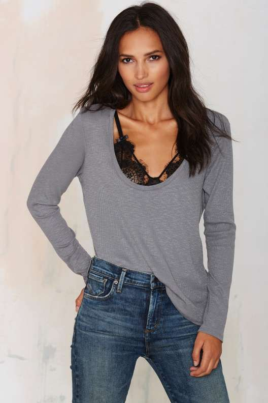 New Low Waffle Top - Gray - What's New : Clothes
