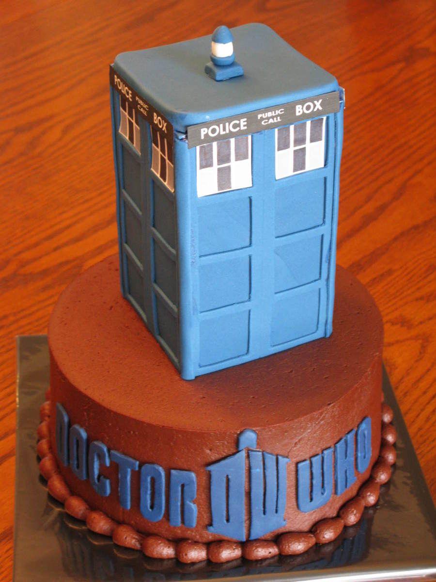 Dr Who Tardis Birthday Cake on Cake Central cake Pinterest