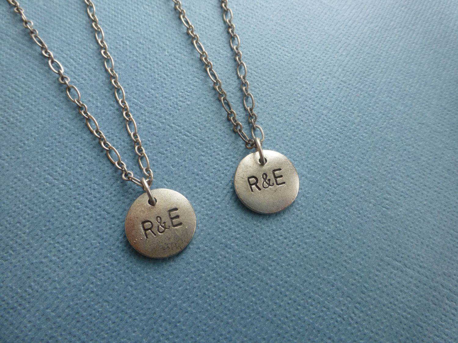 reserved for Brittany, custom order, couples matching necklaces ...