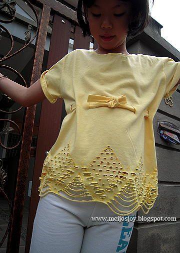 Meijo's Joy: Easy Old T-shirt revamp - No Sew! (2)