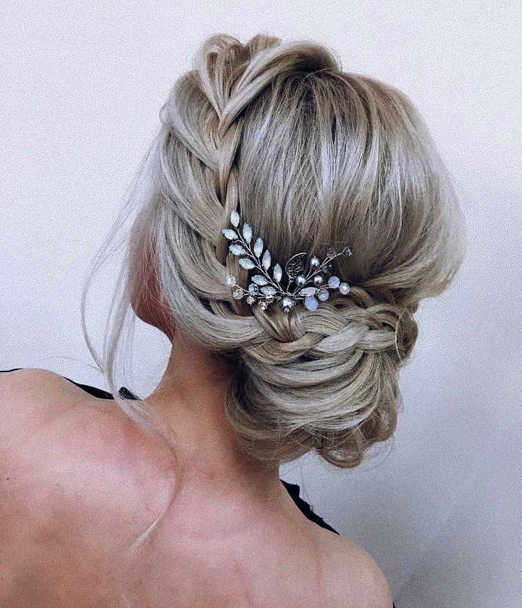 Wedding Updos For Long Hair Bridesmaids Within Wedding Vows The Knot Yet Wedding Crashers Just Bridal Hair Pins Pearl Wedding Hair Clips Party Hair Accessories