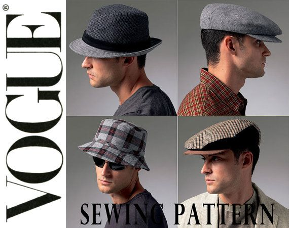 cac101e68cd Vogue V8869 The McCall Pattern Co. 2012© Uncut Sewing Pattern Mens Hats   Five lined hats