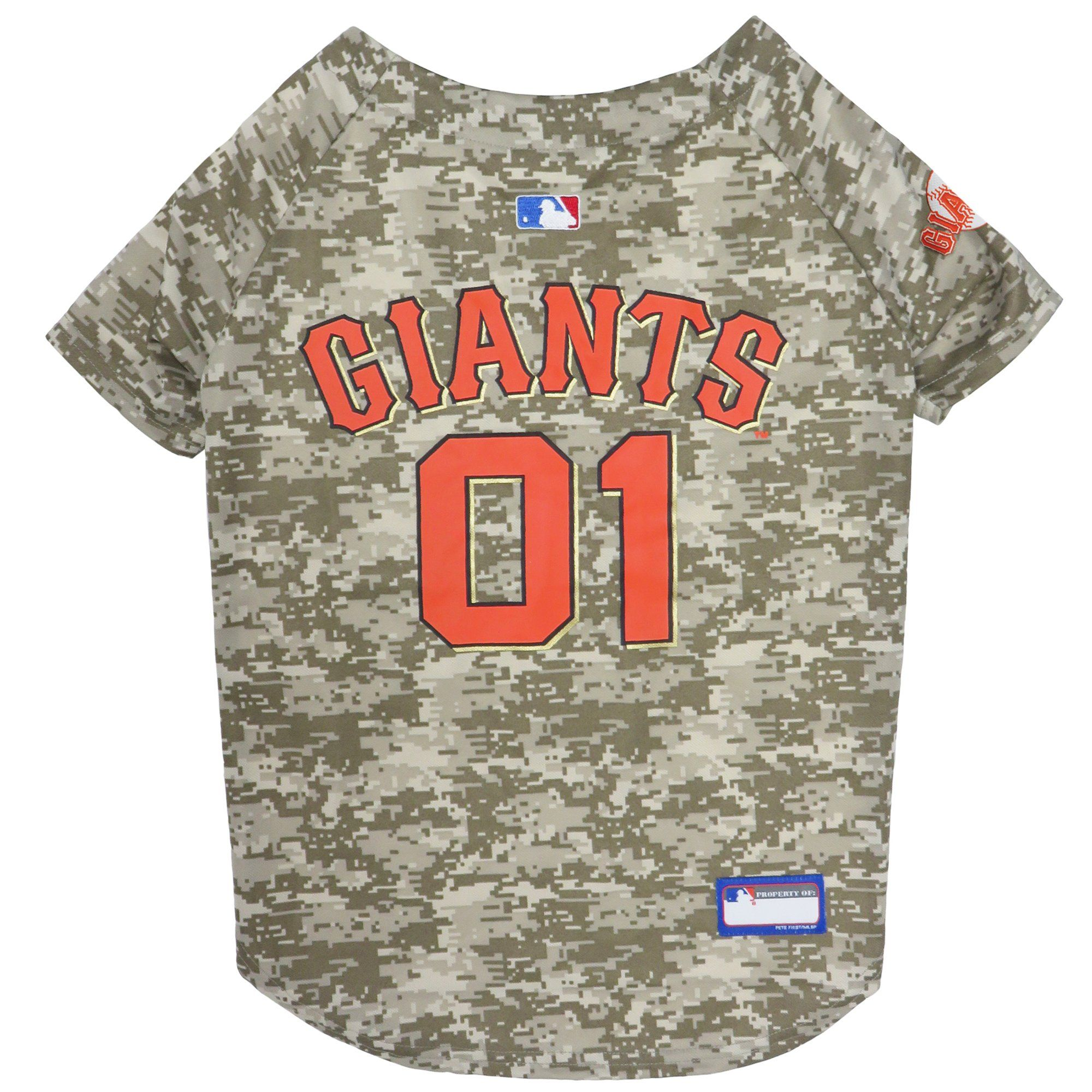Pets First San Francisco Giants Camo Jersey, XLarge