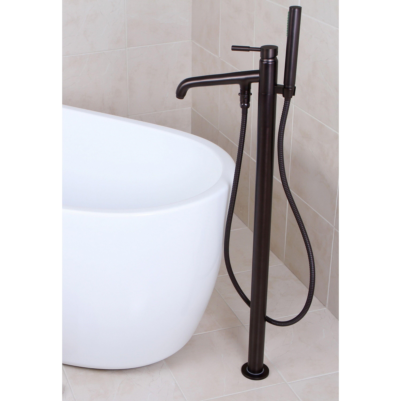 Sebastian Freestanding Tub Faucet And Supplies Cross Handles