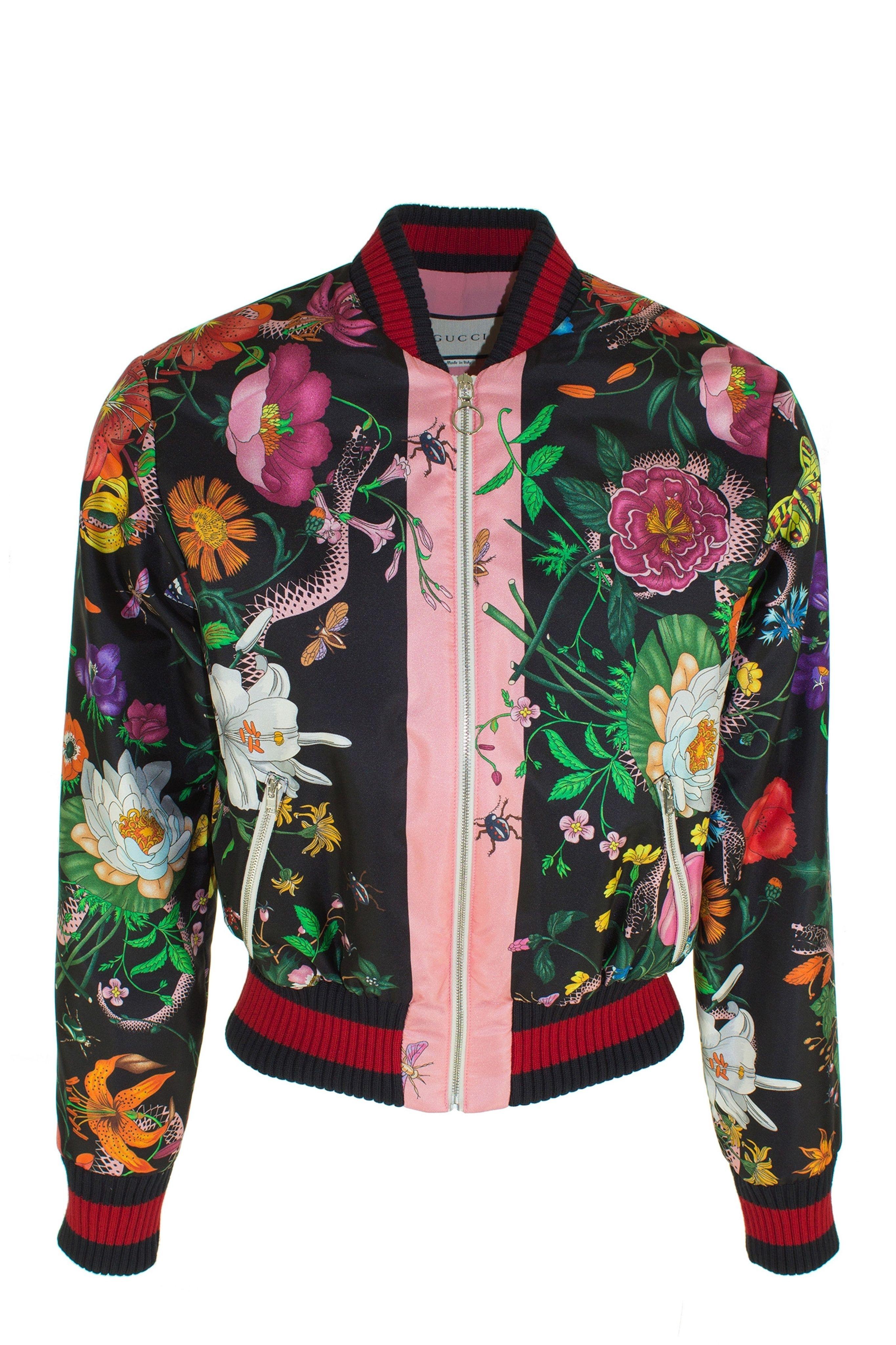 ce20da0a7fa8 Bomber fleuri - gucci   Flowers in the fashion, fleurs dans la mode ...