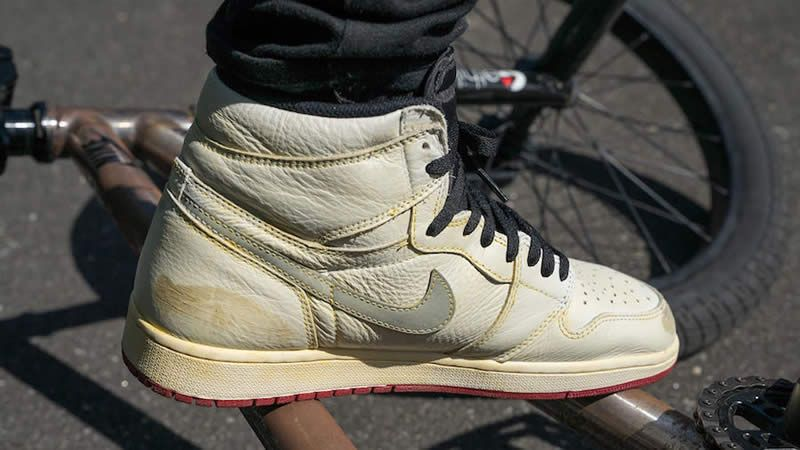 b1ff5c396bb439 nigel sylvester air jordan 1 retro high og sail varsity on feet bv1803-106 -
