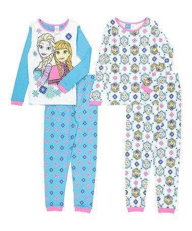 Disney Frozen ELSA ANNA 2pc Poly Jersey Pajamas Set Girl Size 4//5
