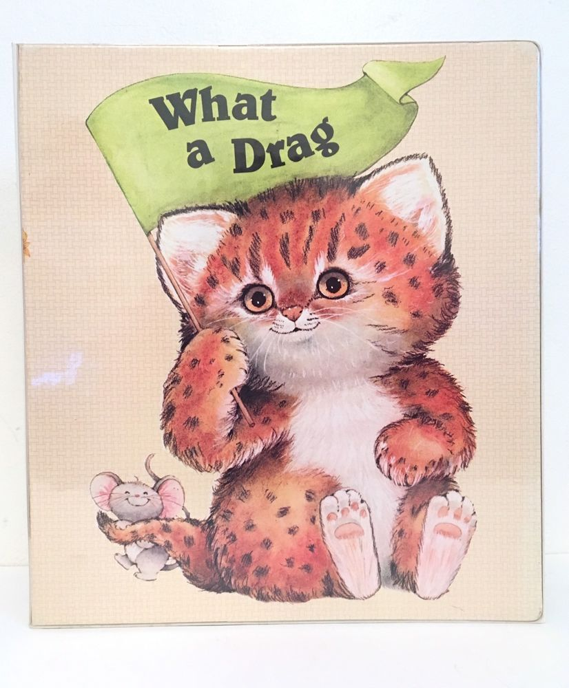 Vintage Critter Sitters Animal Mead 3 Ring Binder What A