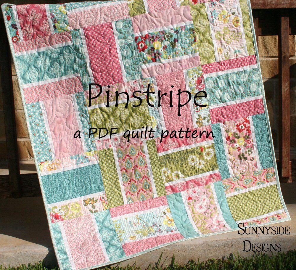 Pinstripe Quilt Pattern - Layer Cake Friendly | Pinstriping ... : layer cake friendly quilt patterns - Adamdwight.com