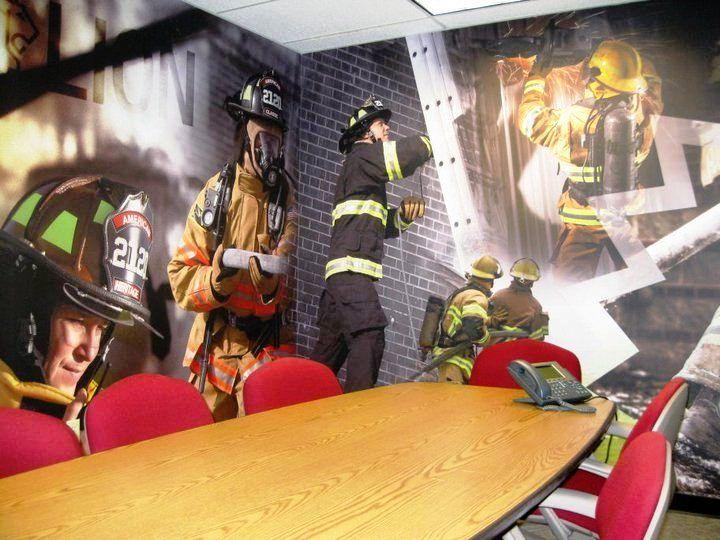 Captivating Fire Station Office. Fabulous Wall Mural Www.SpeedproSilverSpring.com Part 4