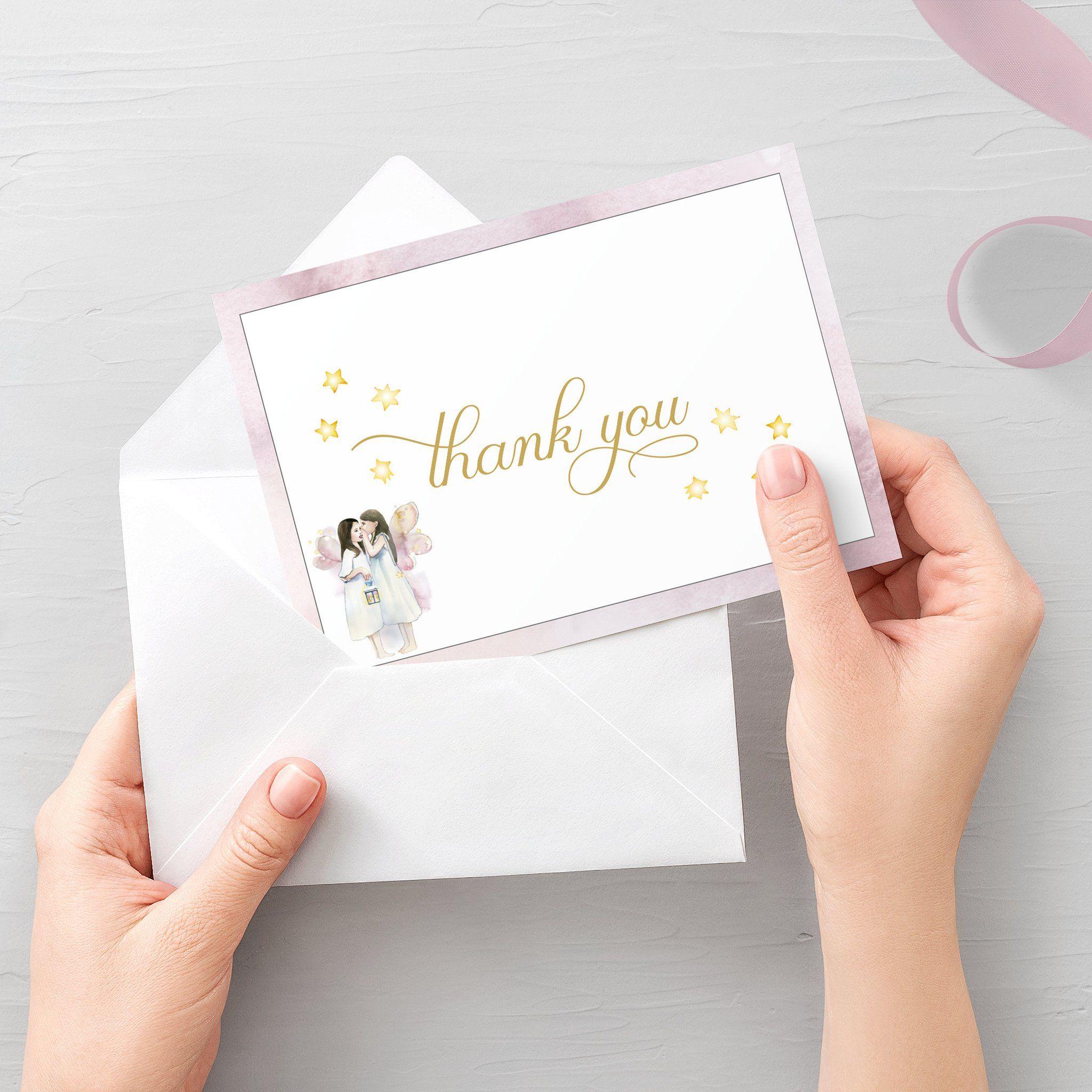 fairythank you card printable fairy thank you note