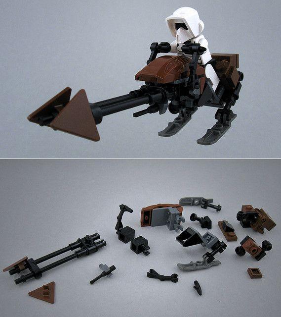 Lego Custom Star Wars Speeder Bike With Instruction Lego