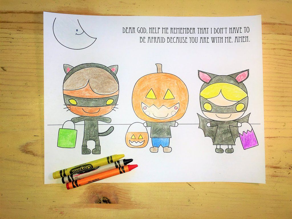 October Coloring Page Costumes Bible coloring pages