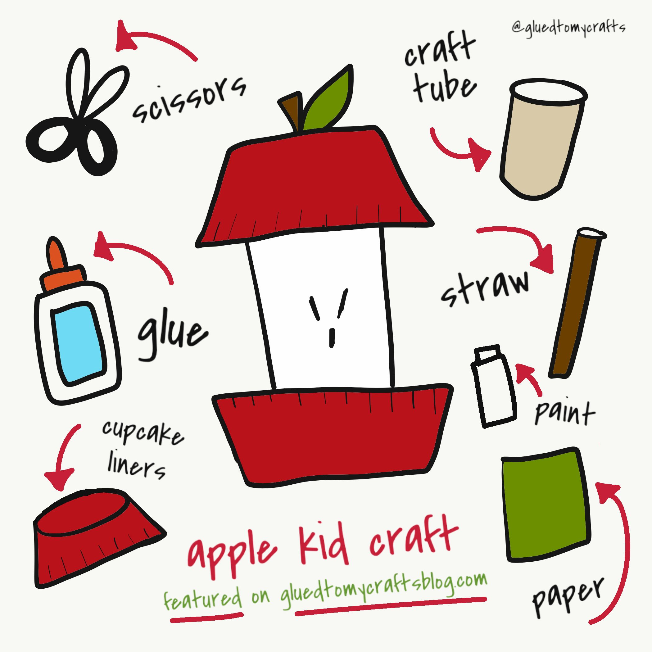 Cupcake Liner Toilet Paper Roll Apple