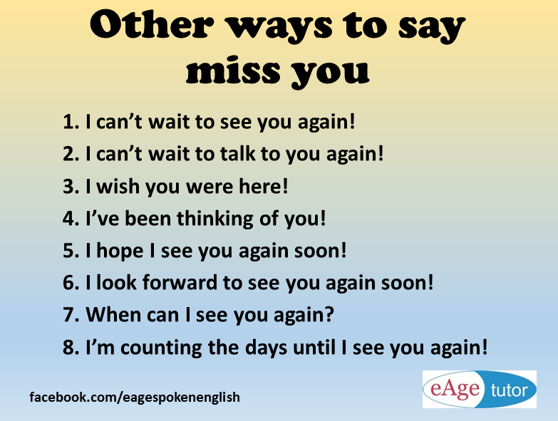 Other Ways To Say Miss You Words Missyou Wwweagetutor