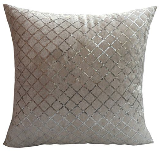 Flannelette Throw Pillow Cover With Shining Diamond Shape Sequins Decorations White Silver Sequin Throw Pillow Styling Pillows Cheap Decorative Pillows