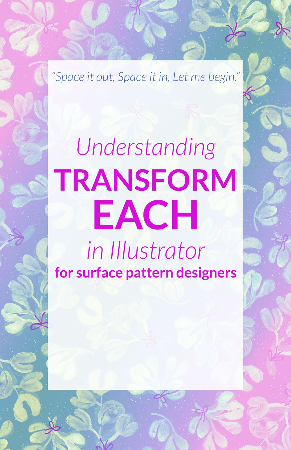 Photoshop Classes Using The Transform Each Tool In Illustrator Tutorials Classes