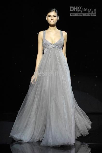 gorgeous | Wedding day | Pinterest | Grey gown, Gowns and Wedding