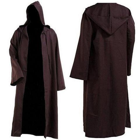 Fantasia Star Wars Jedi Marrom ou Preta Tamanhos S a 2XL