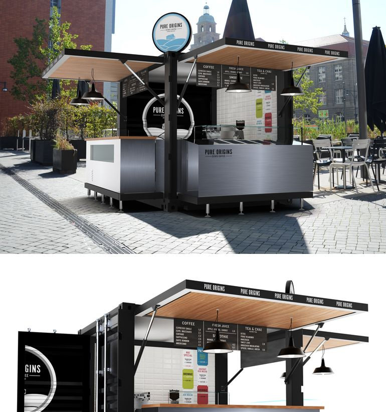 10ft Pop Up Shipping Container Kiosk Design Mobile Fast Food Kiosk For Sale Container Shop Kiosk Design Coffee Shop Design