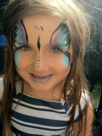 butterfly face painting adult - Google Search