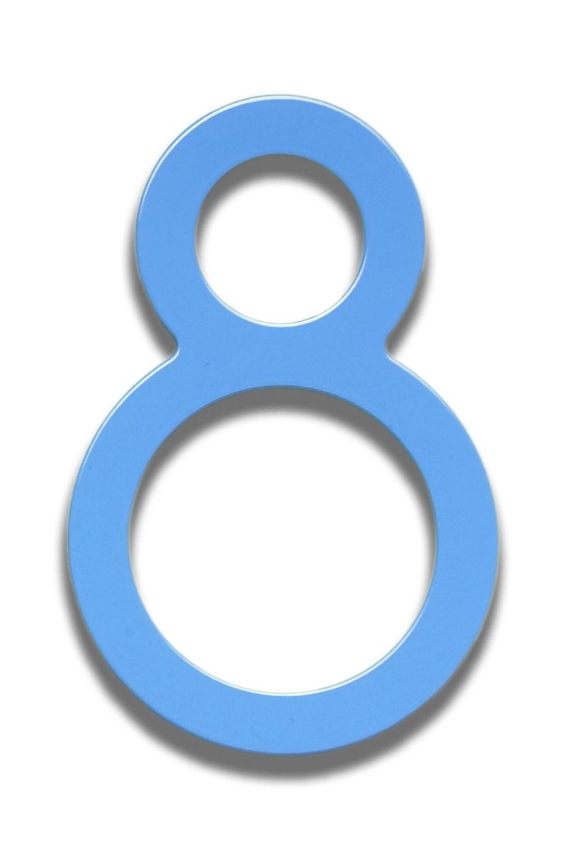 Bungalow Style House Numbers Letters Bonita Blue 5 Item