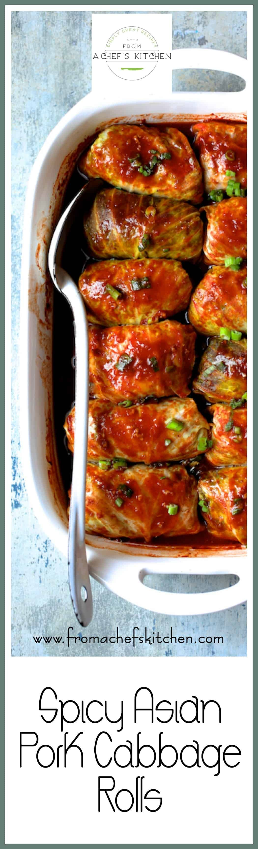 Spicy Asian Pork Cabbage Rolls are a spicy Asianinspired twist on traditional cabbage rolls Use turkey chicken beef or even tofu if you prefer