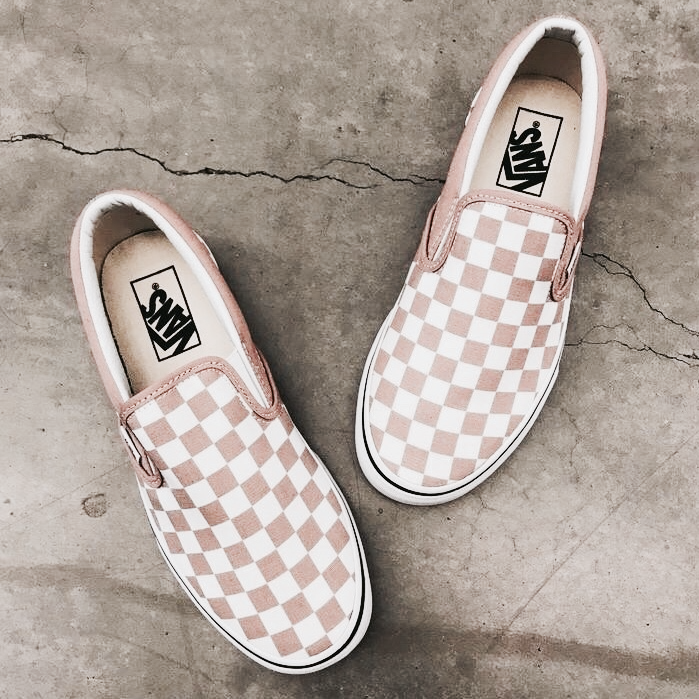 35d87e2792 Nude checkered slip on vans. Nude checkered slip on vans Crazy Shoes ...