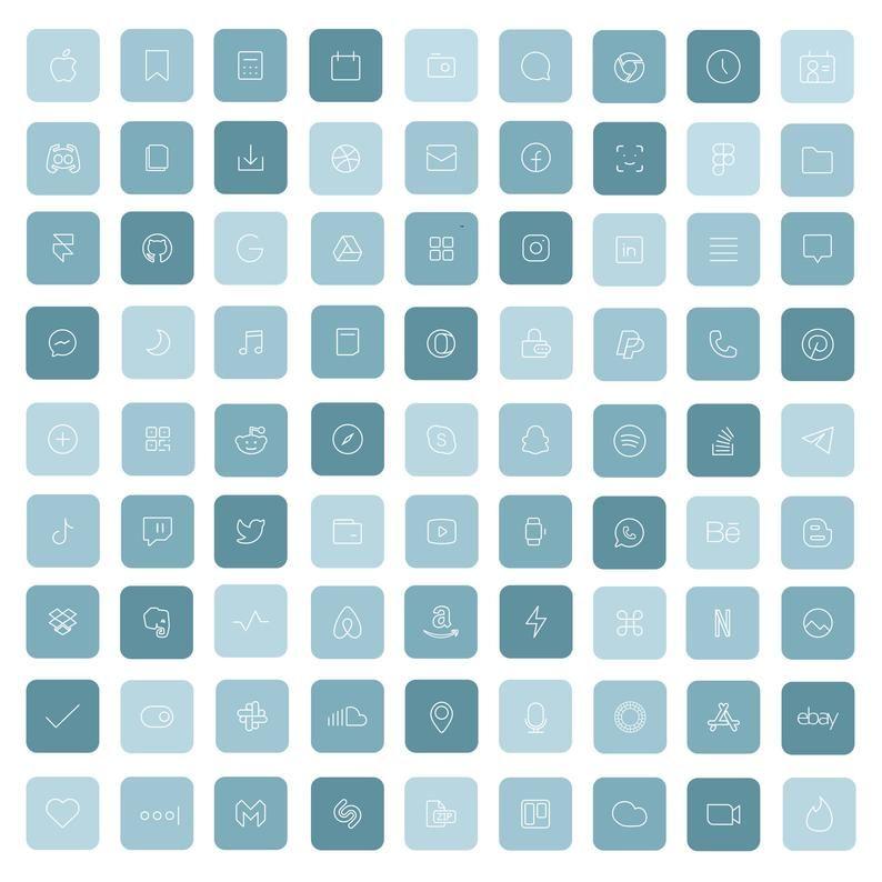 83 Sea iOS 14 App Icons Light Blue Bright Mood Wid